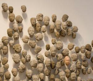 Detail of Congregation 2, a sculpture by Ledelle Moe