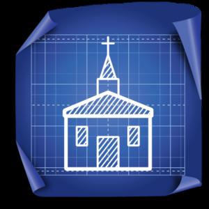 church on blueprint
