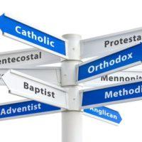 Catholic Protestant Pentacostal Orthodox denominations