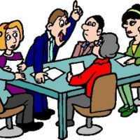 report at a meeting