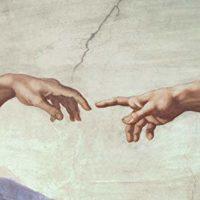 hands from Michalangelo creation