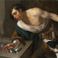 574px-Narcissus_Gazing_at_His_Reflection_by_Dirck_van_Baburen